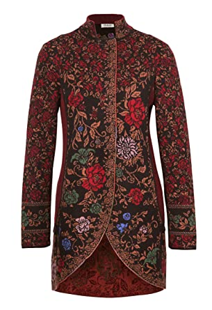 49e53817965 Amazon.com: IVKO Long Jacket with Embroidery on The Back, Brown ...