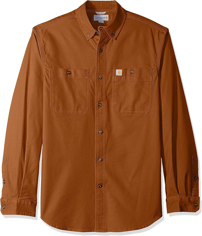 Carhartt Herren Big /& Tall Rugged Flex Rigby Long Sleeve Shirt Work Utility Hemd