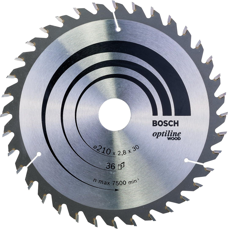 36 210 x 30 x 2,8 mm Bosch 2 608 640 622 pack de 1 Hoja de sierra circular Optiline Wood