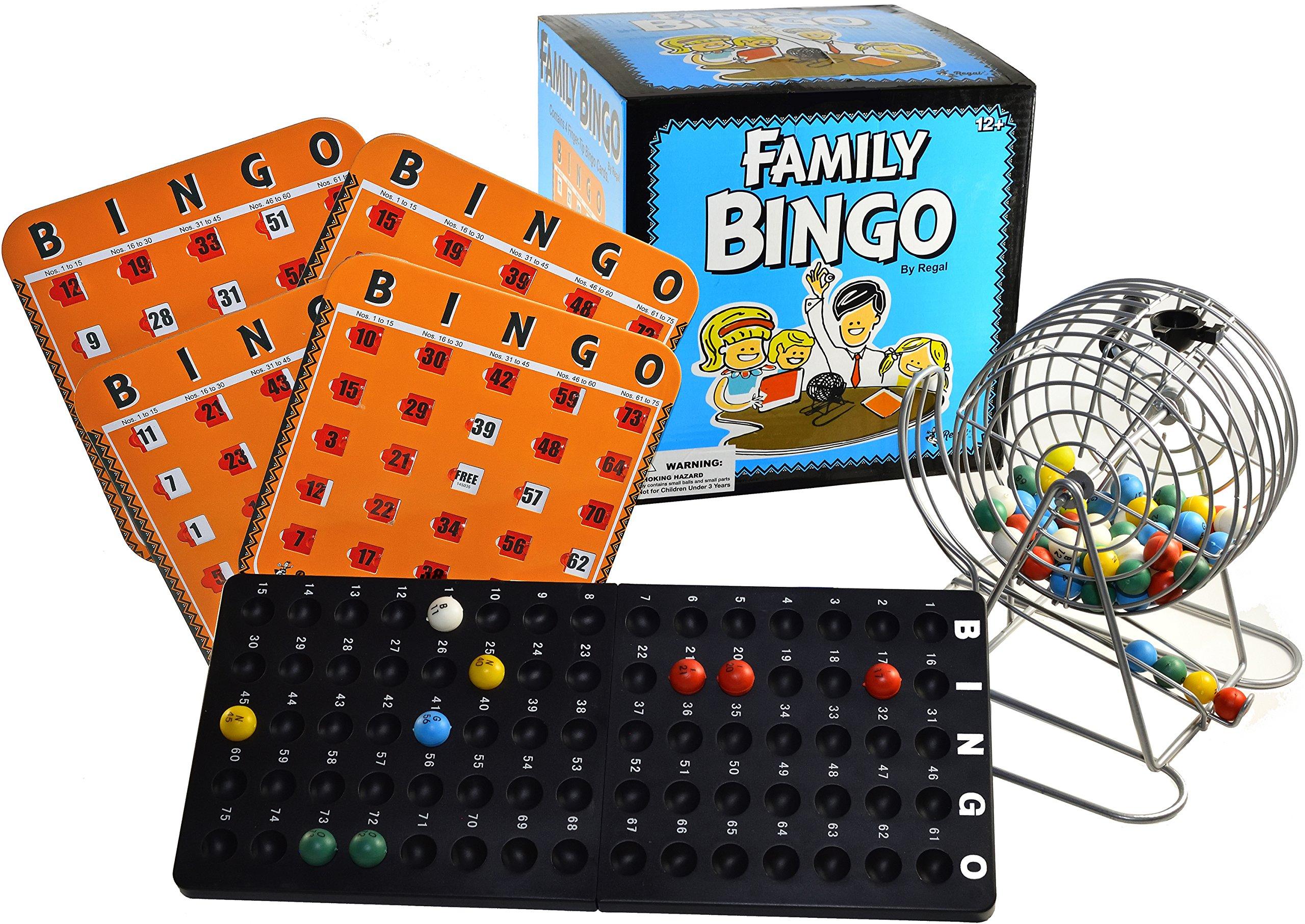 Regal Games Family Bingo Set with Shutter Slide Cards