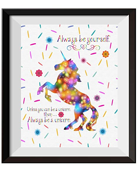 Uhomate Unicorn The Unicorns Home Canvas Prints Wall Art Anniversary Gifts  Baby Gift Inspirational Quotes Wall