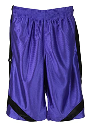 abb66011919c Amazon.com  Nike Boys Air Jordan Basketball Shorts - Black