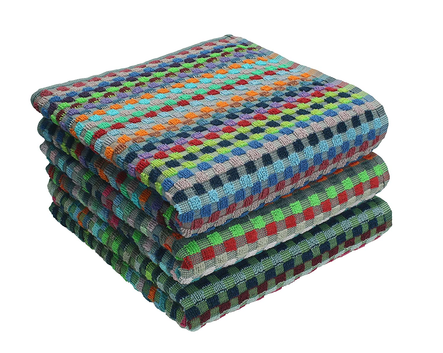 Betz 3 Piece Set Work Towel size: 50 x 90 cm, 100% cotton, colourfully chequered