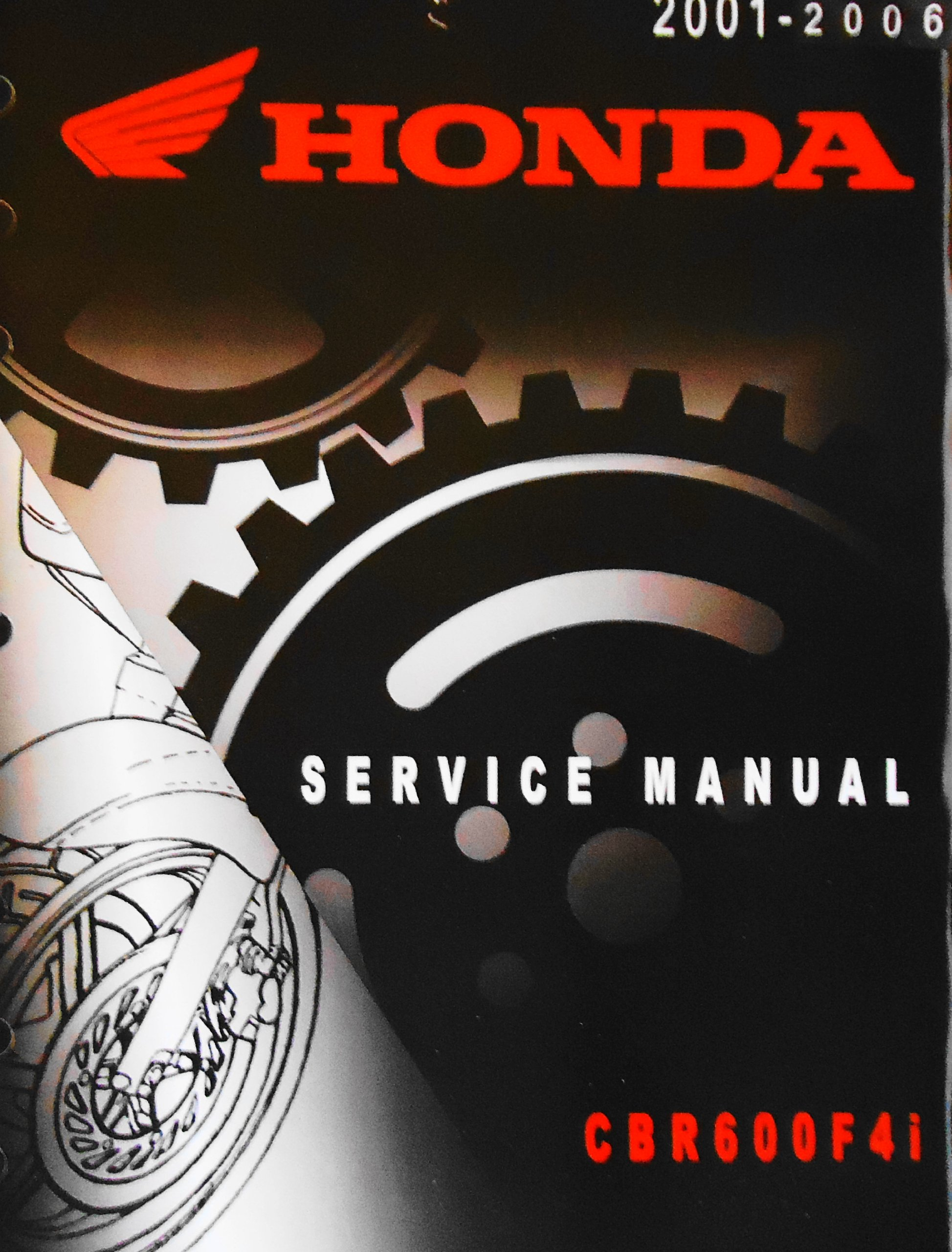 Official Honda Cbr600f4i Motorcycle Factory Service Manual 2001 2006 Cbr 600 F4i Motor Co Books