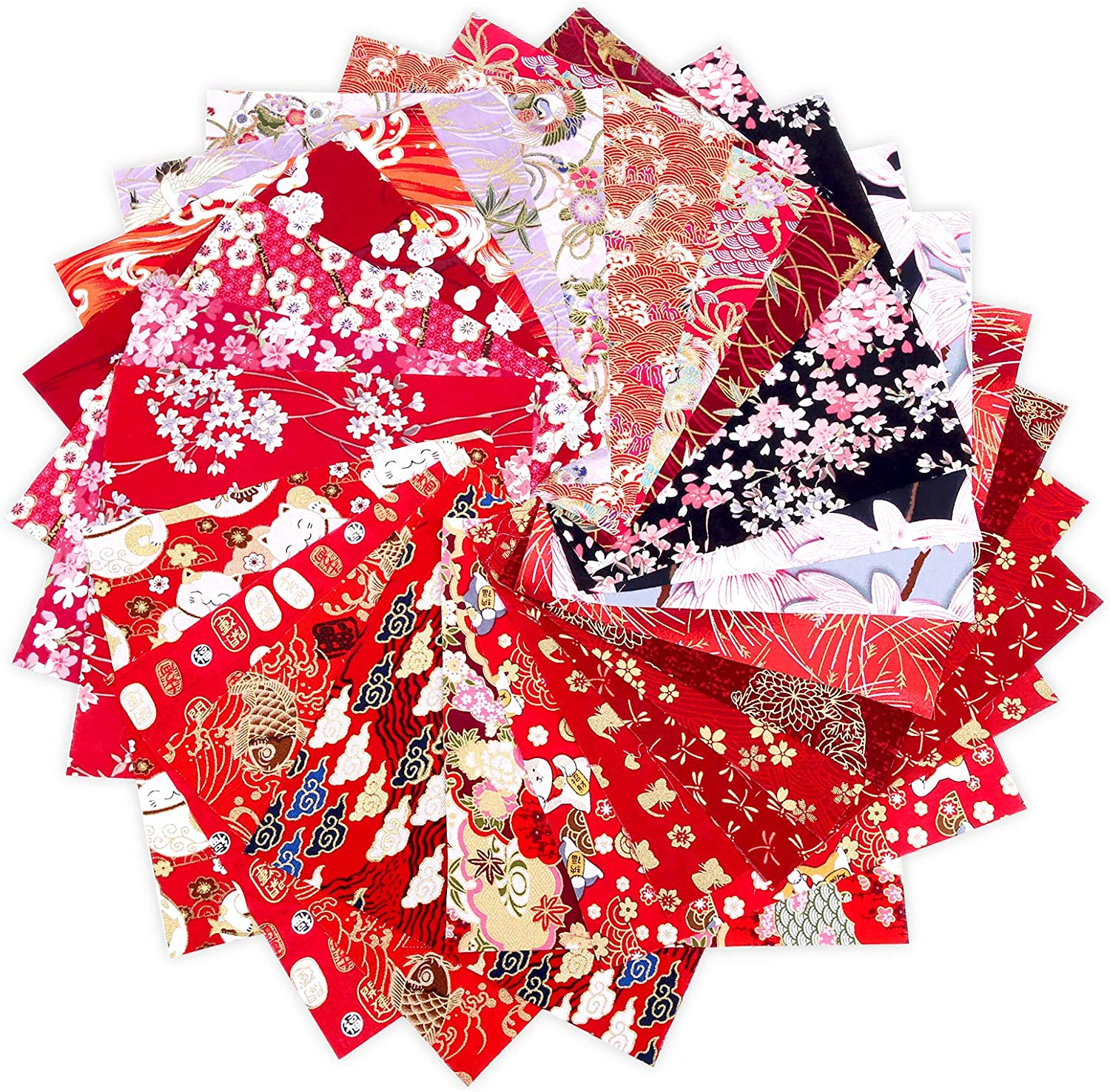25 Sheet Quilting Fabric Cotton Fabric Different Pattern Cloths Fabric for Sewing Pre-Cut Quilt Sewing Supplies Patchwork for DIY Scrapbooking Art Craft Supplies (7.87x7.87 in)