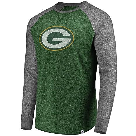 775c5e77 Amazon.com : Green Bay Packers Men's Majestic Static Raglan Long ...