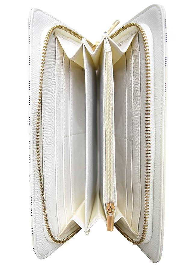 ff3b1c98f3 Blancho Bedding Womens [WENDY KEEN] PU Leather Wristlet Wallet Zipper Purse  Card Holder WHITE: Amazon.co.uk: Luggage