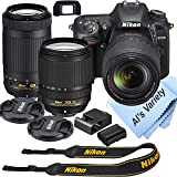 Nikon D7500 DSLR Camera Kit with 18-140mm VR + 70-300mm Zoom Lenses | Built-in Wi-Fi| 20.9 MP CMOS Sensor | EXPEED 5 Image Pr