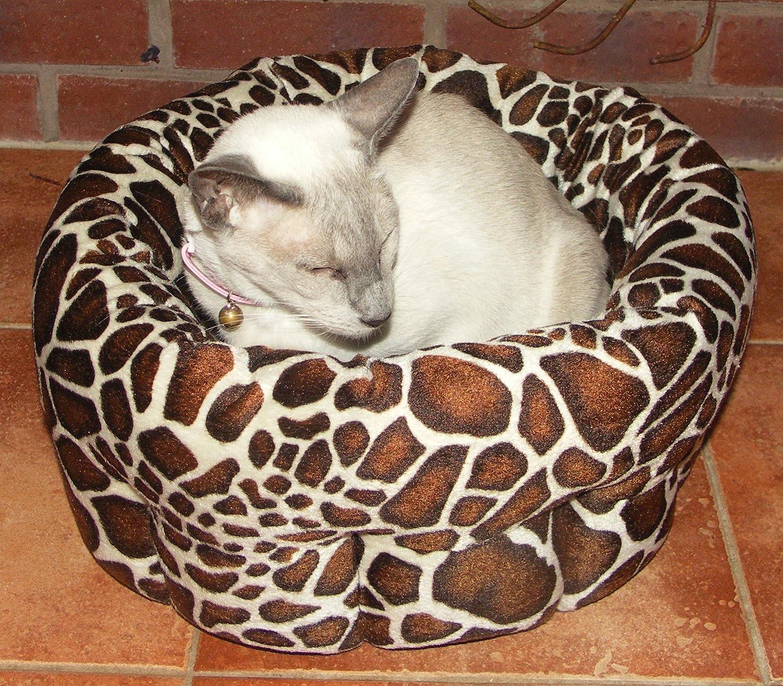 40 Winks Rosewood - Cama redonda de felpa para perro pequeño y gato con base antideslizante, 38 cm: Amazon.es: Productos para mascotas