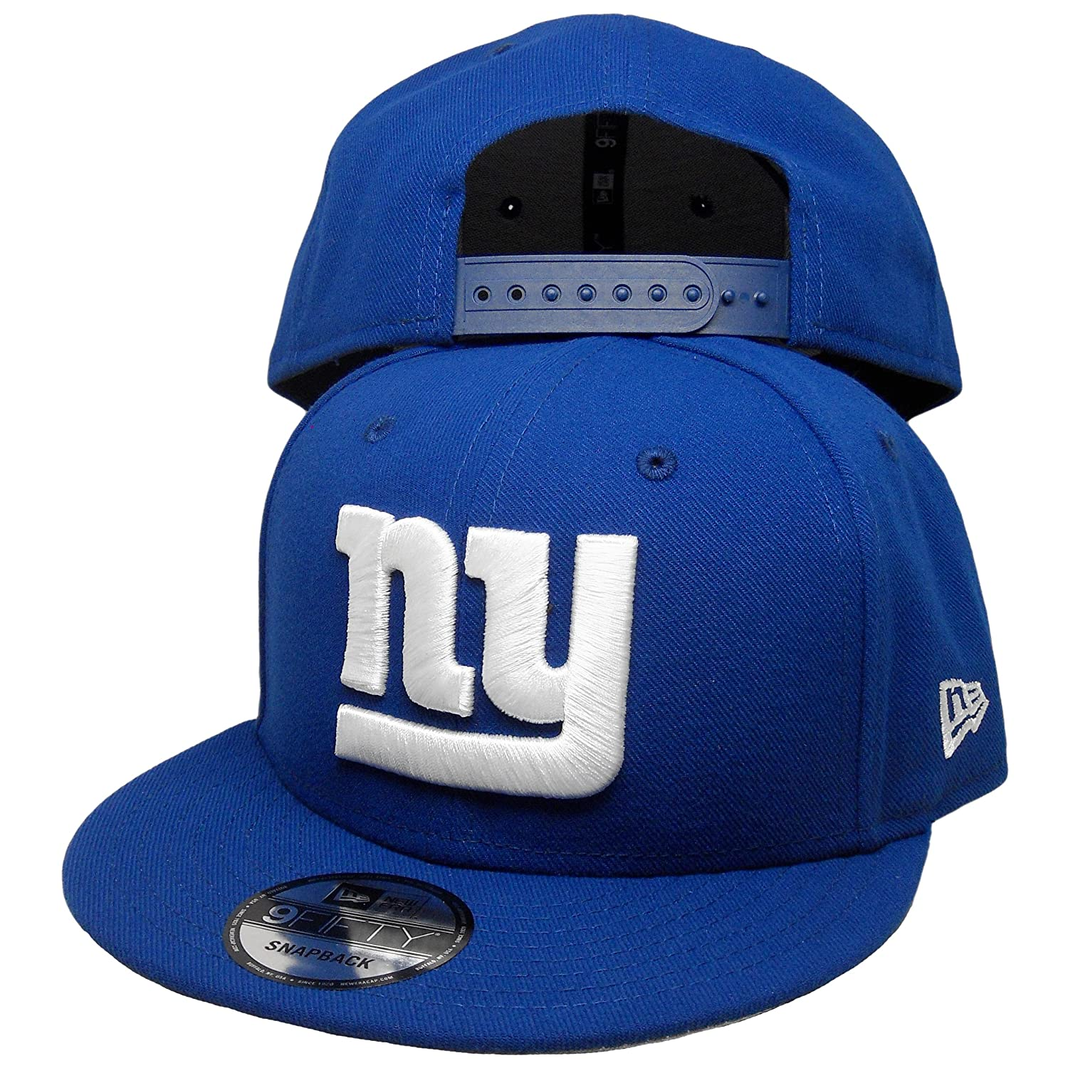 c8cdcaf2ec6c Amazon.com   New York Giants Custom New Era 9Fifty Snapback Hat to match  Air Jordan 18 Sport Royal   Sports   Outdoors