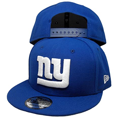 fe7a0d8e5e6 Image Unavailable. Image not available for. Color  New York Giants Custom New  Era 9Fifty Snapback Hat ...