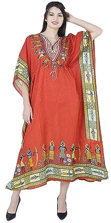 SKAVIJ Indien Femme Noël Caftan Abaya Longue Couverture Soiree Robe Kimono  Boheme Tunique Cocktail Imprimé Fleuri 3822b8b78b7