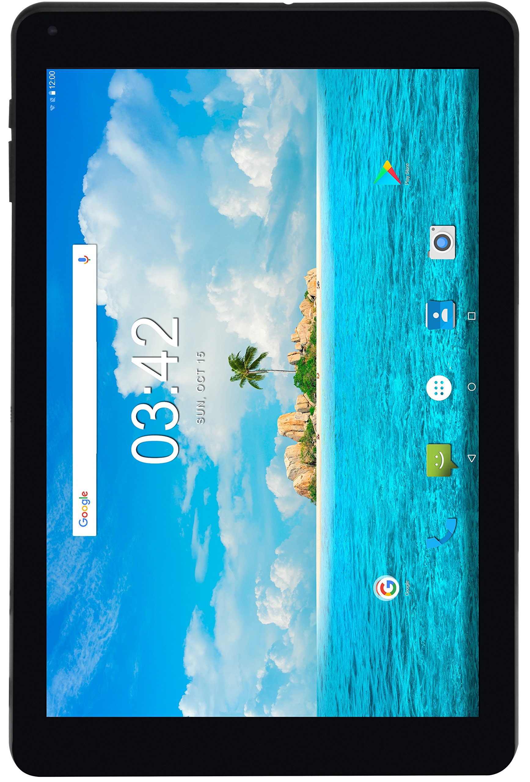 Utopia 10.1-Inch Android 7.0 Tablet - 2GB RAM - 5MP AF Rear & 2MP FF Front Camera - 1.3GHz Quad-Core Processor - 3G Compatible (WCDMA 850/1900/2100MHz), Wi-Fi, Bluetooth - 16GB Storage - Leather Case