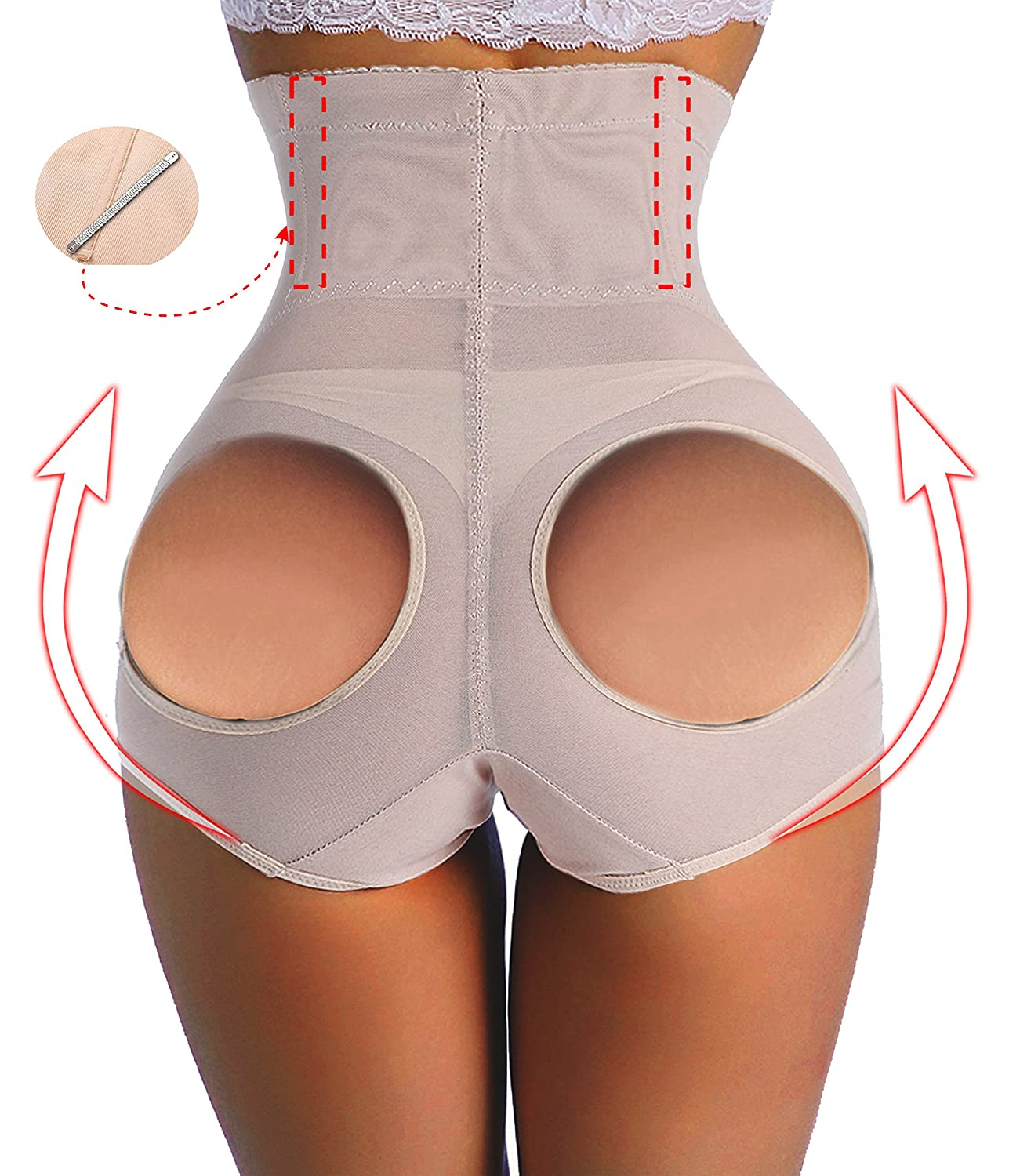 Waist Cincher Butt Enhancer Butt Lifter Boyshort Tummy Control Panties Shapers