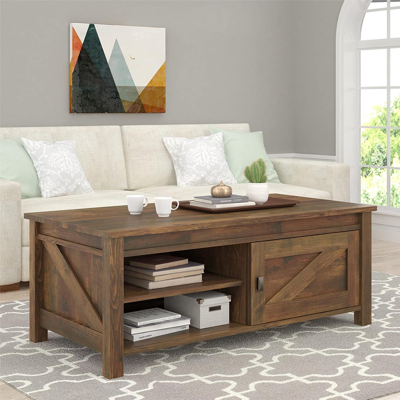 Amazon Ameriwood Home Farmington Coffee Table Rustic