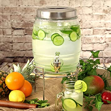 Barril dispensador de la bebida con 5ltr Soporte | Bebidas dispensador, bebidas Barril dispensador, Vidrio Bebidas dispensador, Mason Jar Bebidas ...
