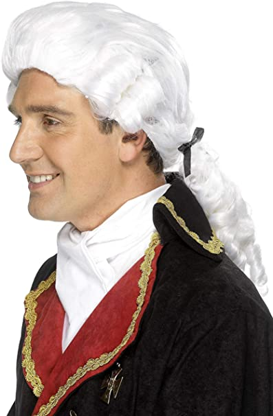 Colonial Wigs for Men/'s Gerorge Washington Revolutionary War Costume Fancy Dress