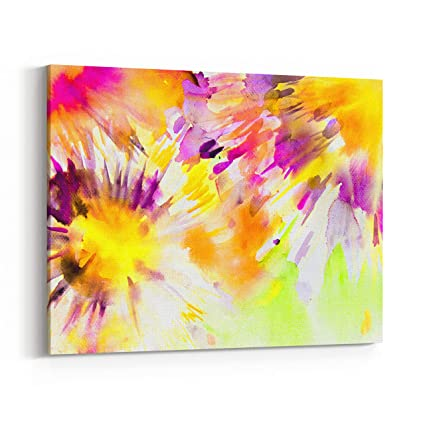 Amazon.com: Rosenberry Rooms Canvas Wall Art Prints - Colorful ...