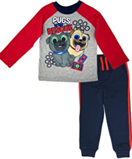 Disney Puppy Dog Pals Rolly Bingo Toddler Boys Fleece T-Shirt & Pants Set