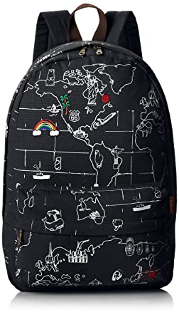 J carrot world map print canvas backpack school bookbag book bag j carrot world map print canvas backpack school bookbag book bag black gumiabroncs Image collections