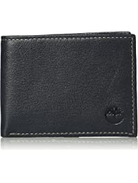 Timberland mens Genuine Leather Rfid Blocking Passcase Security Wallet Billfold
