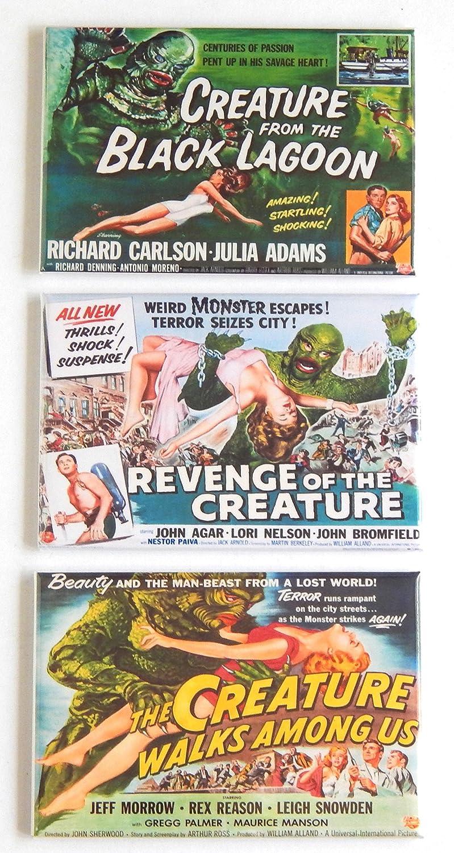 "Revenge of the Creature Movie Poster 2/"" x 3/"" Refrigerator Locker MAGNET"