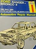 ford rangerbronco ii   repair manual chiltons