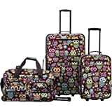Rockland Vara Softside 3-Piece Upright Luggage Set