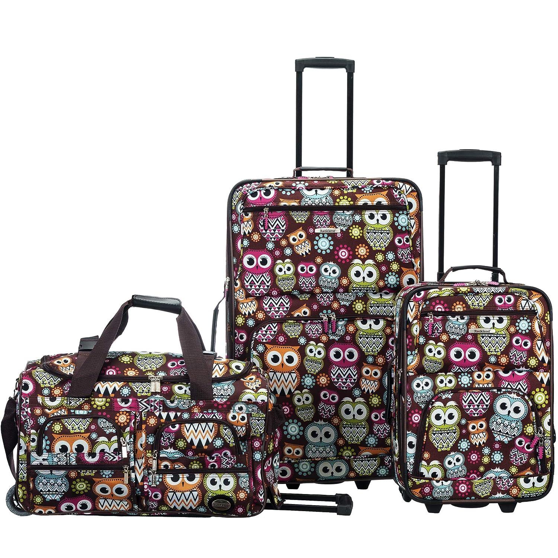 Owl Fox Luggage F165-OWL Rockland 3 Pc Luggage Set