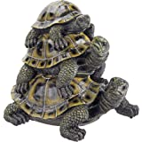 Design Toscano Three's a Crowd Stacked Turtle Statue