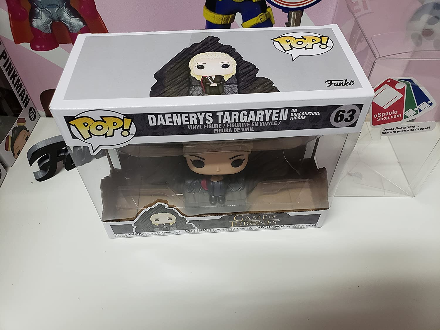 Multicolor 29165 Accessory Toys /& Games Ride Game of Thrones Daenerys on Dragonstone Throne Collectible Figure Funko POP