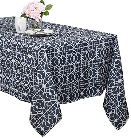 Amazon.com: Benson Mills Geo Indoor/outdoor Spillproof Tablecloth ...
