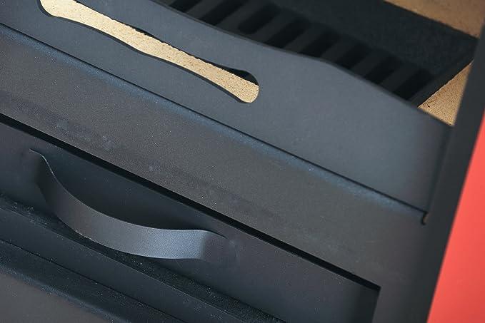 Estufa-chimenea Estufa de leña Espo I Purple, 3-12 kW,disipación rápida del calor: Amazon.es: Hogar