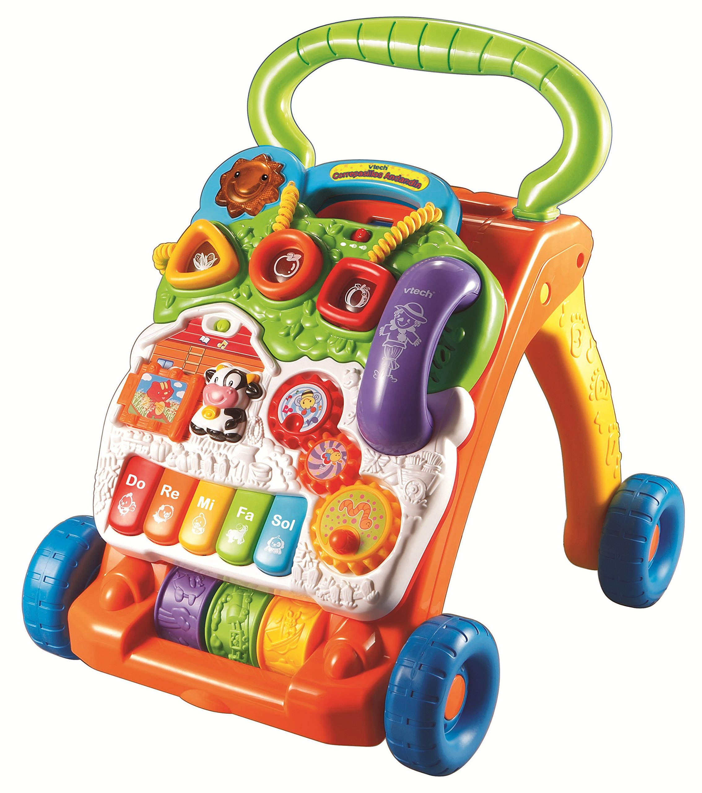 VTech Baby - Correpasillos andandín 2 en 1, andador de bebé interactivo, centro de actividades extraíble, múltiples funciones y regulador de velocidad ...