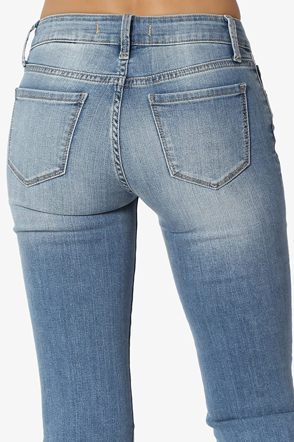 Themogan Womens Basic Slim Bootcut Jeans Flare Pants 03xl At 10 Lover Amazon Store
