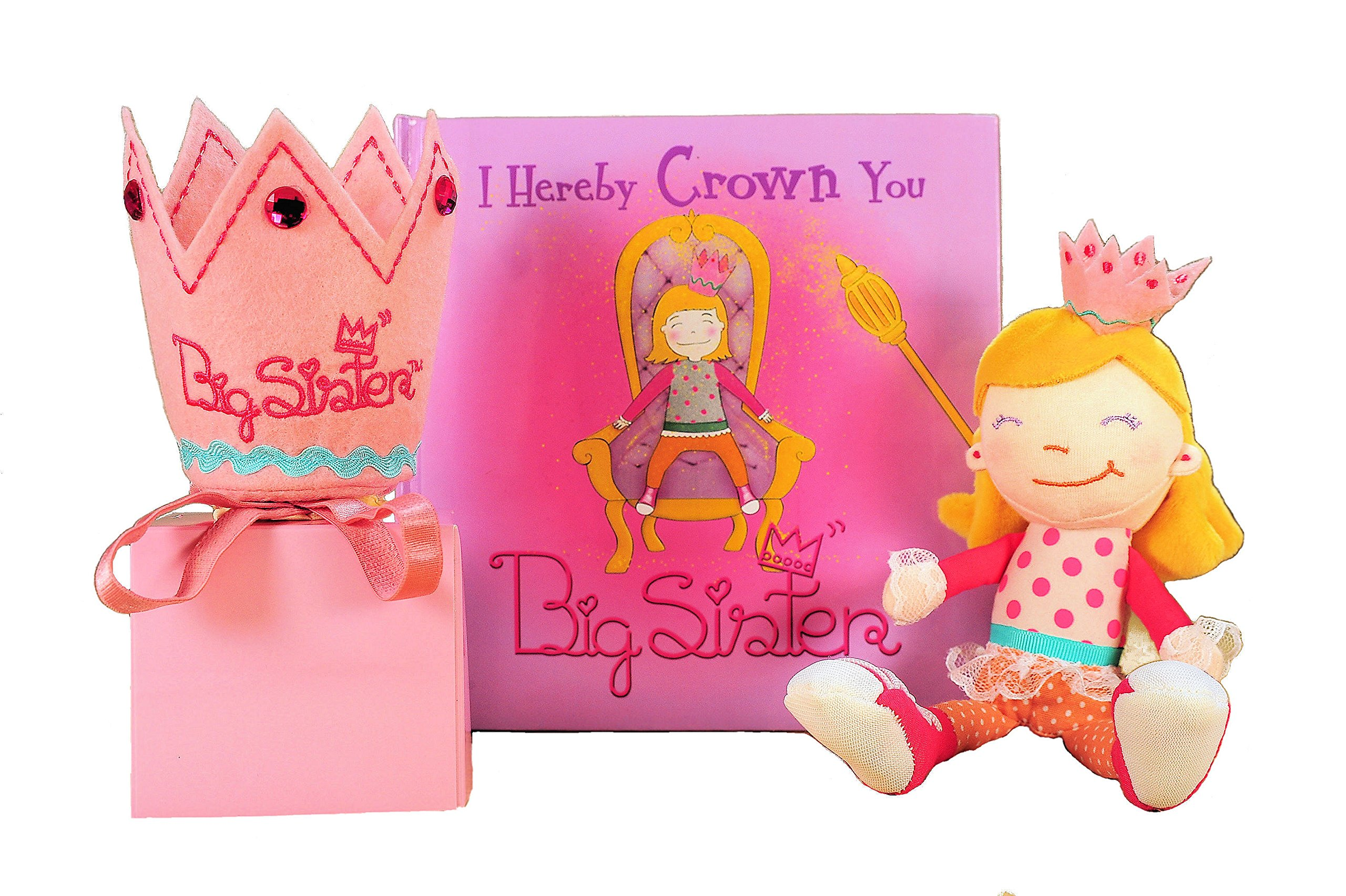 Tickle & Main Big Sister Gift Set- I Hereby Crown You Big Sister Book, Doll, and Child Size Crown by Tickle & Main (Image #3)