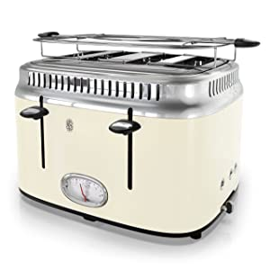 Russell Hobbs TR9250CRR Retro Style Toaster 4-Slice Cream