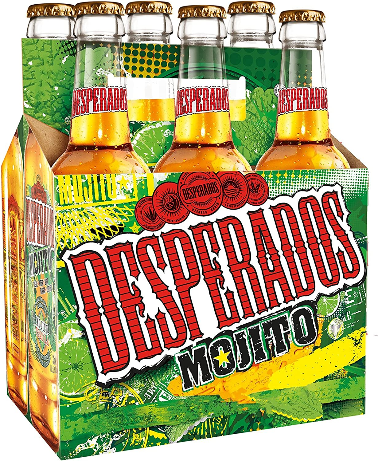 Desperados Mojito Cerveza - Pack de 6 Botellas x 330 ml -Total ...