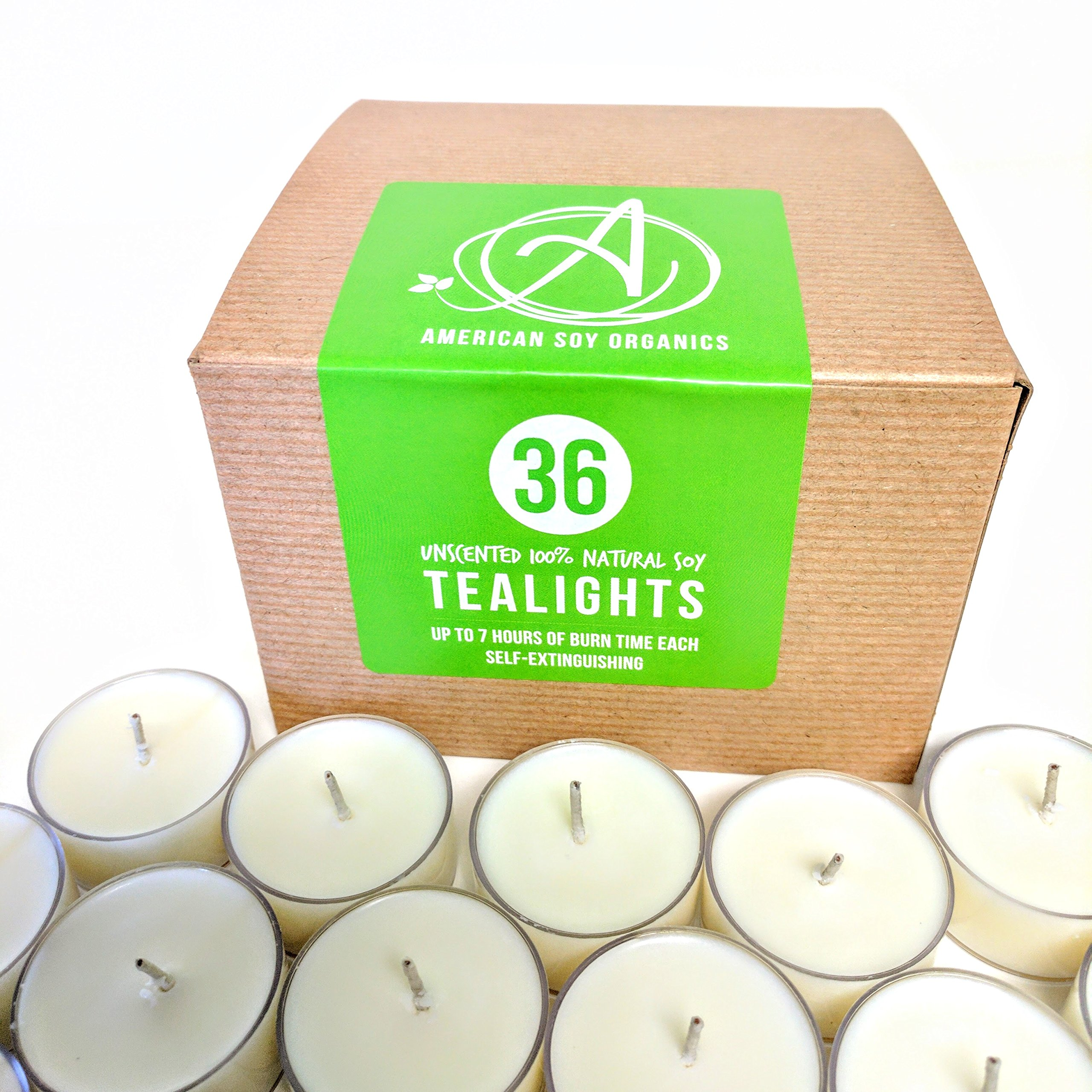 American Soy Tealights (6-7 hour burn time) (36) by American Soy Organics