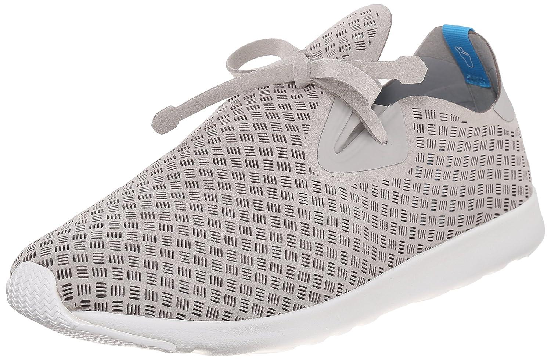 Native Unisex Apollo Moc Fashion Sneaker. B011PMAJ0W X-Large / 10.5 B(M) US Women / 8.5 D(M) US Men Pigeon Grey/Shell White/Stripes