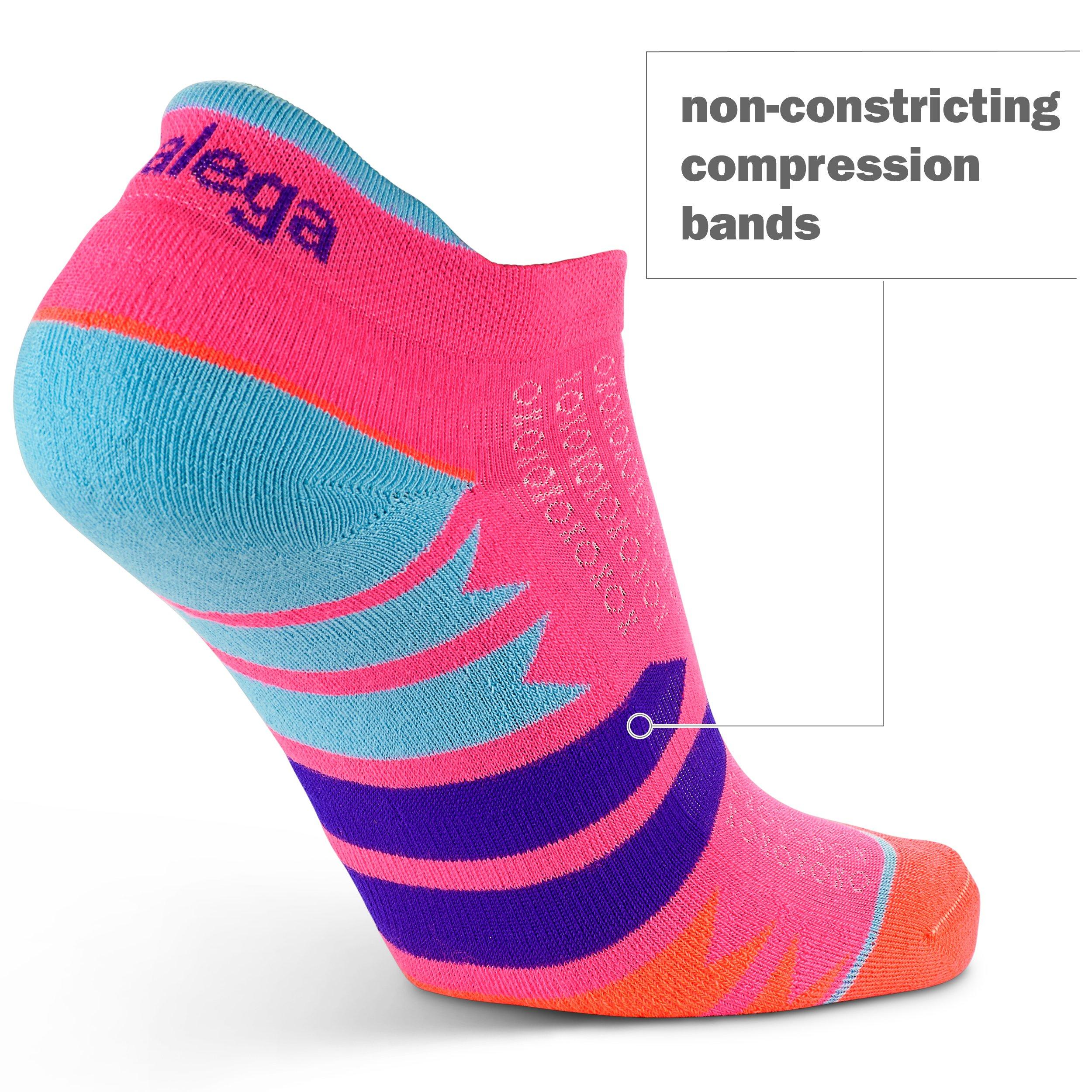 Balega Women's Enduro No Show Socks (1 Pair), Watermelon/Orange, Medium by Balega (Image #6)