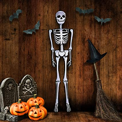 Amazon Com Artcreativity Halloween Skeleton Inflate Decoration 6ft Tall Cute And Creepy Home Decor For Indoor And Outdoor Use Halloween Party Supplies Contest Prize For Kids Toys Games