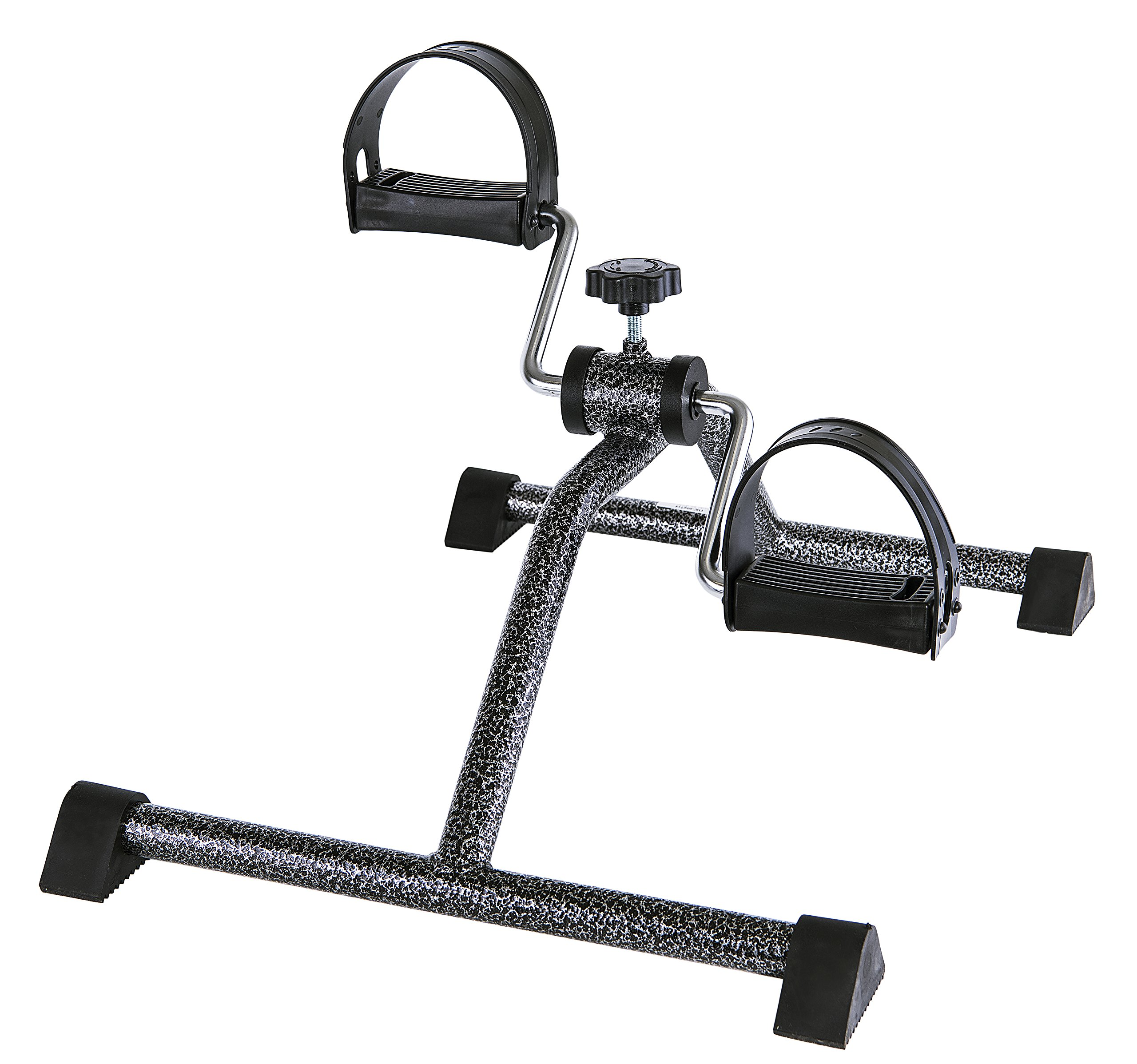 Medical Pedal Exerciser Gun-Metal Silver (Fully Assembled, no Tools Required)
