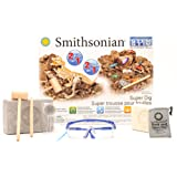 Smithsonian Super Dig Set! Excavate Dinosaur Bones, Gemstones and Minerals, Mega Value, 2 STEM Science Kits in 1