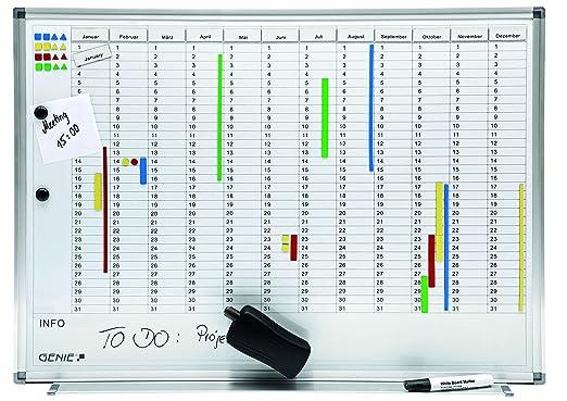 3 opinioni per Genie AP2000- Lavagna magnetica scrivibile, con suddivisione mensile e annuale,
