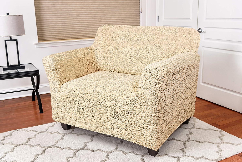 2 places ou 3 places et pour fauteuils beige tissu /élastique extensible Toile 2 places 1 place Menotti Housse de protection pour canap/és dangle
