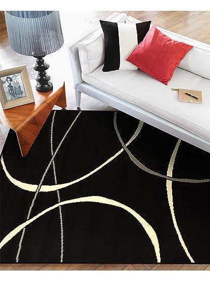 benuta tappeto moderno swing nero 180x280 cm - 100% polipropilene ... - Tappeto Soggiorno Nero