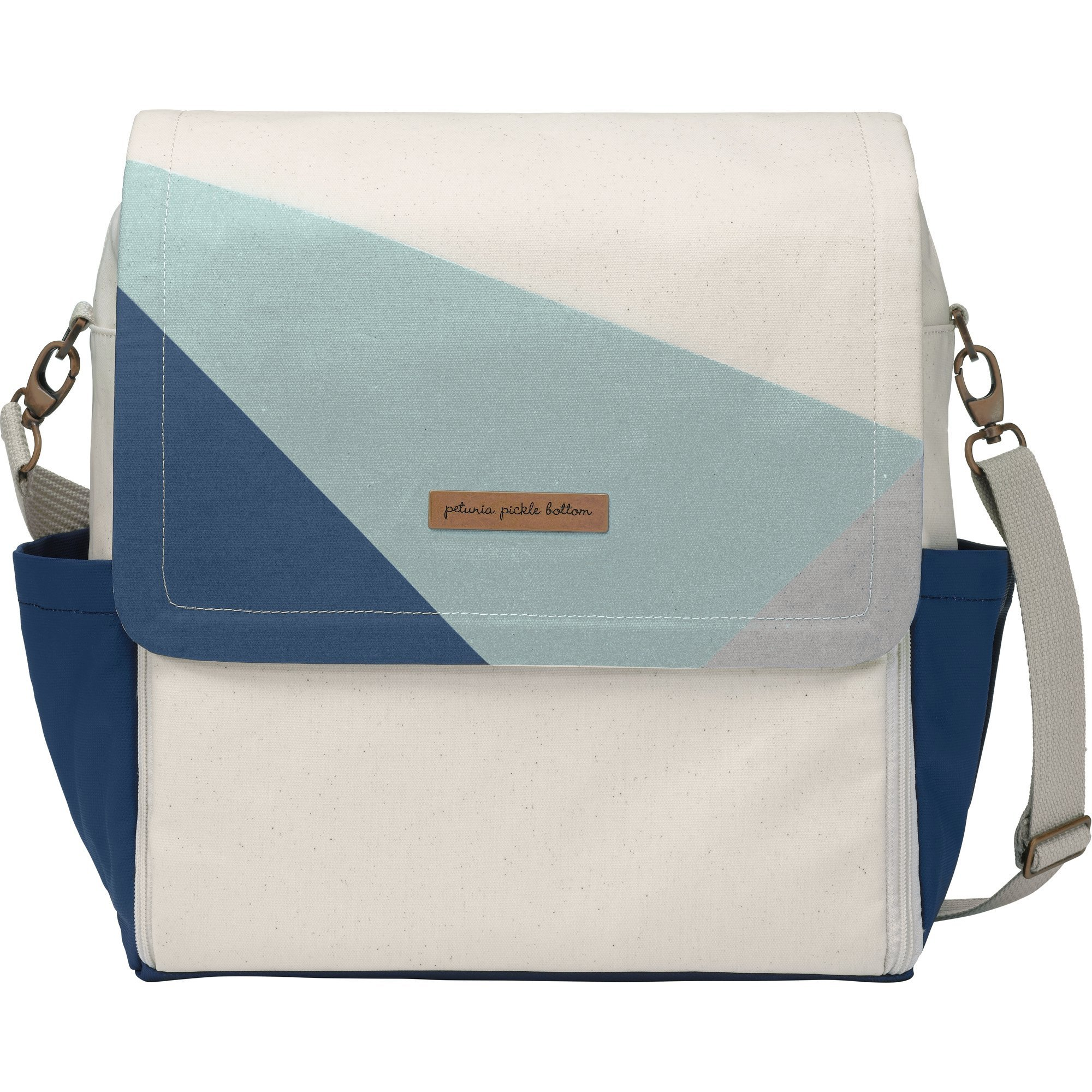 Petunia Pickle Bottom Boxy Backpack, Birch/Fjord