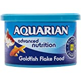 AQUARIAN Complete Nutrition, Aquarium Goldfish Food, Flakes Also Suitable for Small Pond Fish, 50 g Container