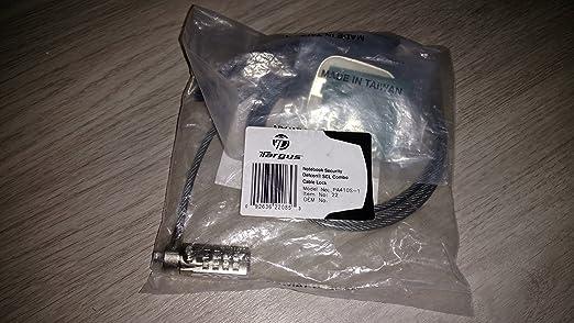 Targus pa410s-1 serializado Defcon SCL (Cable Lock: Amazon.es: Oficina y papelería